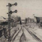 """Георгий Нисский """"Железнодорожные пути"""" 1924"""
