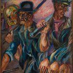 """Давид Бурлюк """"Рабочие"""" 1924"""