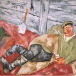 "Михаил Ларионов ""Отдыхающий солдат"" 1911"