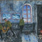 """Михаил Ларионов """"Утро в казармах"""" 1910"""