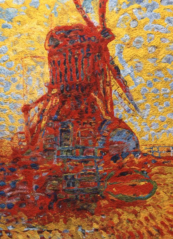 "Вик Мюнис ""Mill in Sunlight, after Piet Mondrian"" 2007"