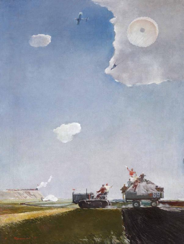 """Георгий Нисский """"Прыжок с парашютом"""" 1930-е"""