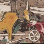 """Марк Шагал """"Лошадь и корова"""""""