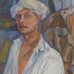 """Михаил Ларионов """"Автопортрет в тюрбане"""" Около 1907"""