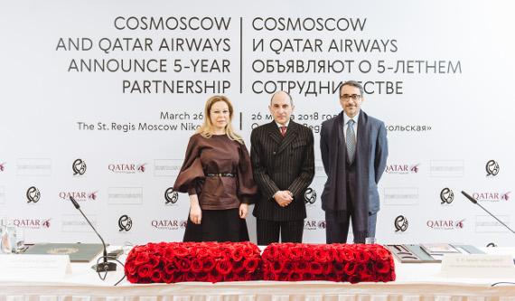 Cosmoscow и Qatar Airways объявили о 5-летнем сотрудничестве.