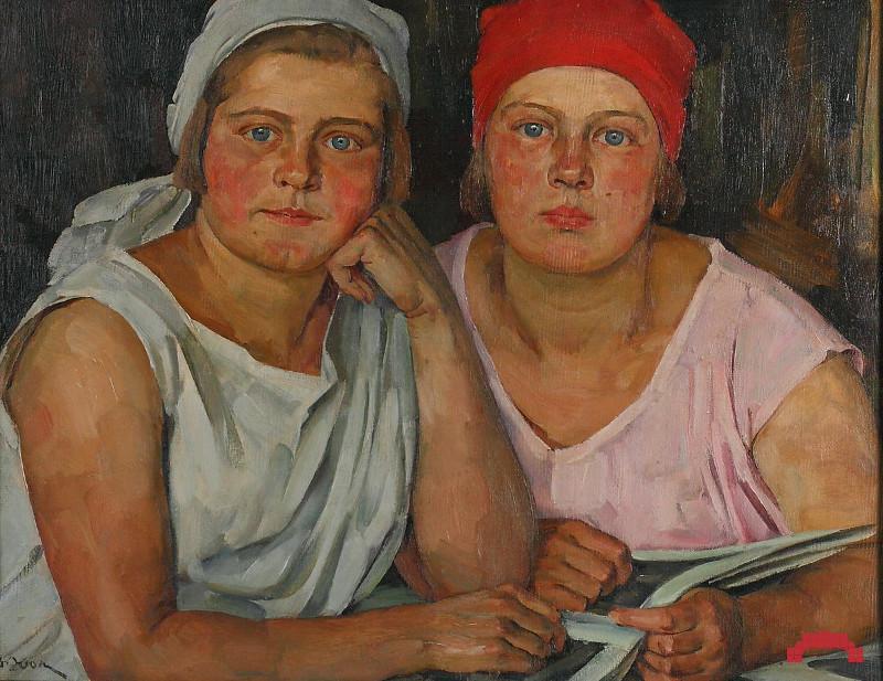 """Константин Юон """"Комсомолки"""" 1926"""