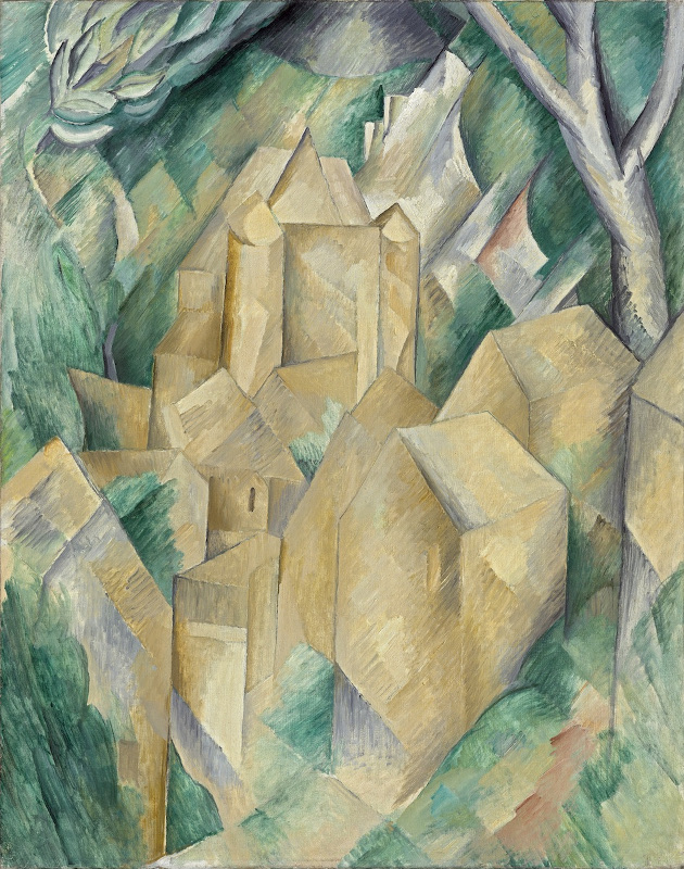 "Жорж Брак ""Замок Ла Рош Гюйон"" 1909"