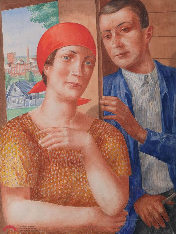 "Кузьма Петров-Водкин ""Объяснение"" 1929"