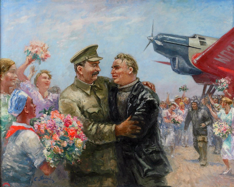 """Самуил Адливанкин """"Первый Сталинский маршрут"""" 1936"""