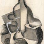 "Хуан Грис ""Натюрморт с бутылкой"" 1916-1917"