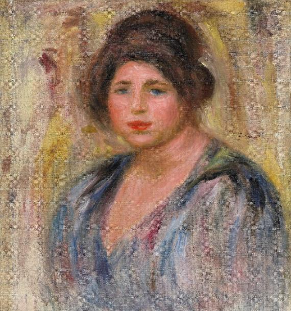 Пьер Огюст Ренуар «Женский портрет» 1912