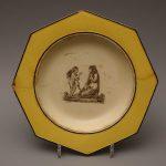 Тарелка с изображением Фрины и Амура. 1817–1830 Автор: Д.И. Степанов (1799–1853)