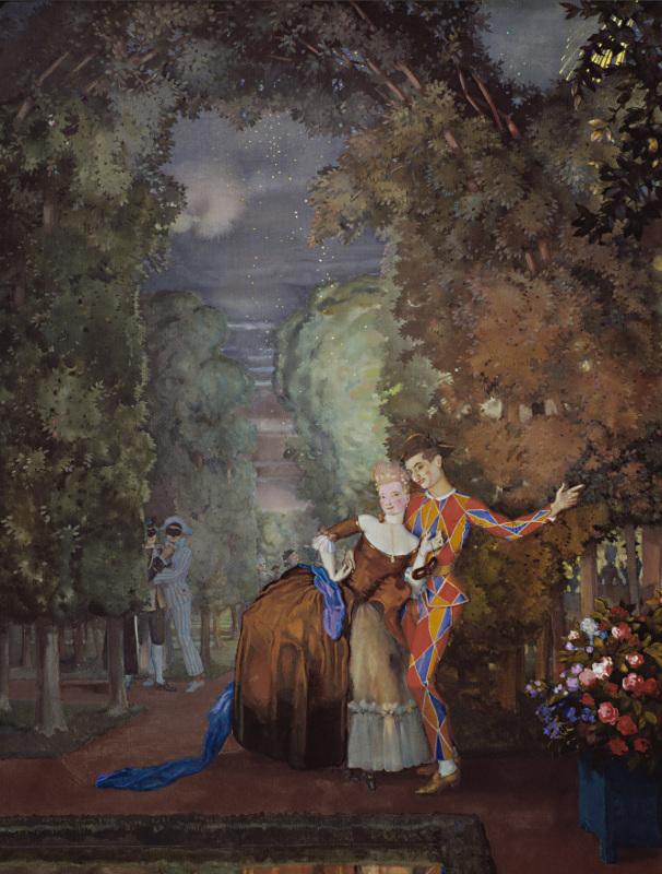 """Константин Сомов """"Арлекин и дама"""" 1912"""