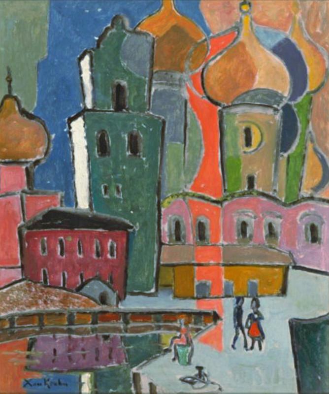 """Ксан Крон """"Церковь в Киеве"""" 1930-е"""