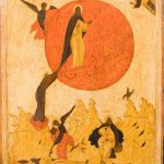"""Икона """"Огненное восхождение пророка Илии"""" Русский Север. Начало 16 века"""