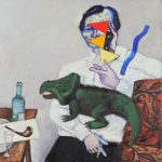 """Виктор Пивоваров """"Портрет Рубена Варшамова, редактора журнала «Веселые картинки"""" 2017"""