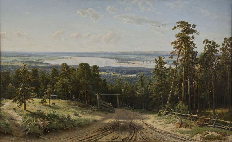 """И.И. Шишкин """"Кама близ Елабуги"""" 1895"""