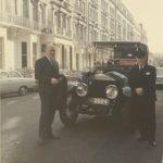 Святослав Рихтер и знаменитое лондонское такси. Лондон, 1970-е