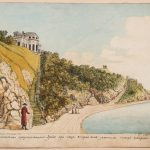 """Болотов А.Т., Болотов П.А. """"Сцена романтическая, представляющаяся зрению при сходе от дома вниз длинным косым сходом"""" 1786"""