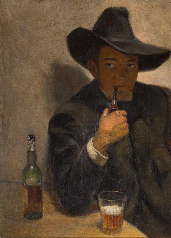 """Диего Ривера """"Автопортрет в шляпе"""" 1907"""