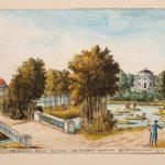 """Болотов А.Т., Болотов П.А. """"Сцена, представляющаяся зрению при входе на Голубой мосток в Богородицком саде"""" 1786-1787"""