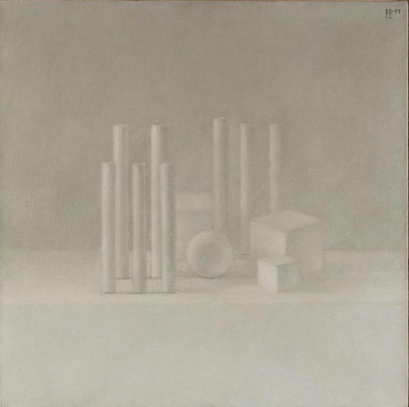 """Владимир Вейсберг """"Колонны и кубы. Архитектурная композиция"""" 1977"""