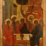 Икона праздничного чина Троица Ветхозаветная