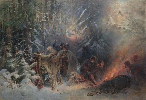 Константин Маковский «Подвиг Ивана Сусанина». 1914