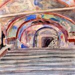 """Алексей Щусев """"Росписи паперти храма в Новгороде"""" 1947"""