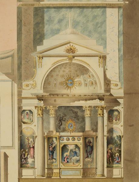 Воскресенский Ново-Иерусалимский монастырь. Проект иконостаса в приделе Св. Марии Магдалины. Фасад.