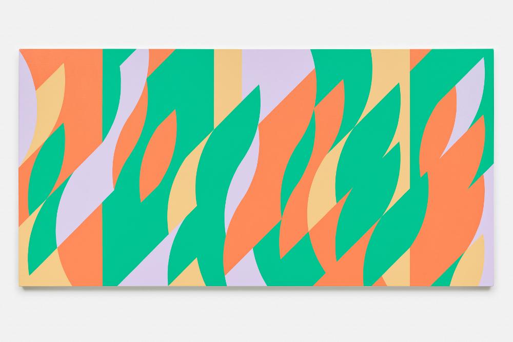 """Бриджит Райли """"Картина с вертикалями 2"""" 2006"""