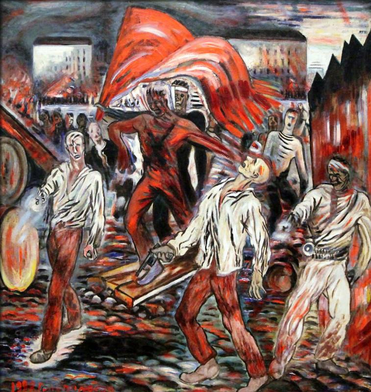 """Борис Голополосов """"Борьба за знамя (Сражающиеся революционеры)"""" 1928"""