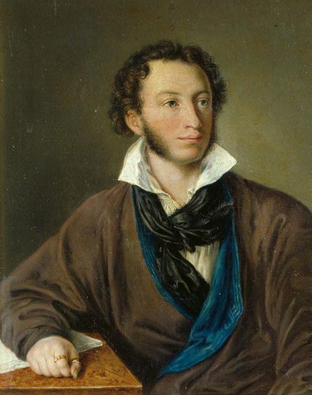А.П. Елагина с оригинала В.А. Тропинина «Портрет А.С. Пушкина» 1827