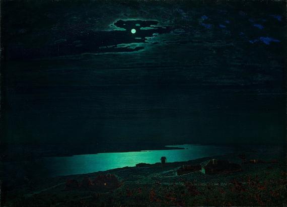 Архип Куинджи «Ночь на Днепре» 1882 Государственная Третьяковская галерея.