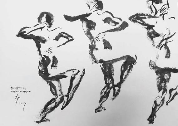 """Выставка """"Андрей Ремнев. Танец набело"""". Театр """"Школа драматического искусства""""."""