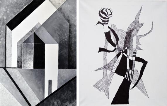 """Выставка """"Черное + Белое, Движение + Свет. Объединение """"Ирида"""". Галерея XXI века."""