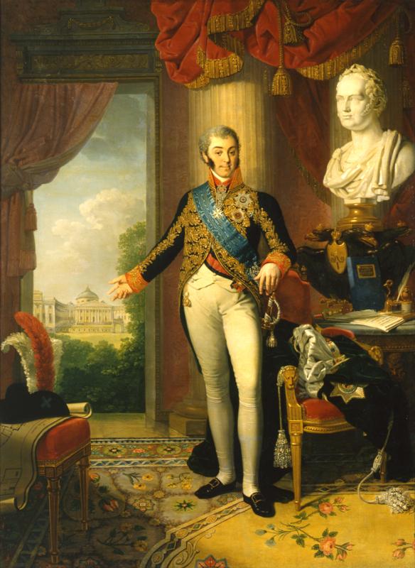 """Владимир Боровиковский """"Портрет графа Н.П. Шереметева"""" 1817-1819"""