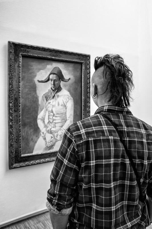 """Жерар Юфера """"Центр Помпиду, перед """"Арлекином"""" Пикассо"""" Париж, январь 2017"""