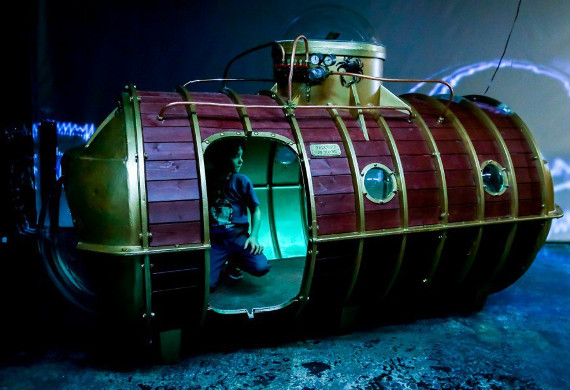 """Интерактивная выставка """"Невероятные миры Жюля Верна"""". Центр дизайна ARTPLAY - Малый зал."""