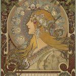 """Альфонс Мария Муха """"Календарь со знаками Зодиака для La Plume"""" 1897"""