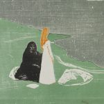"Эдвард Мунк ""Две женщины на берегу"" 1898"