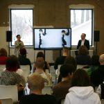 Пресс-конференция на открытии мастерских