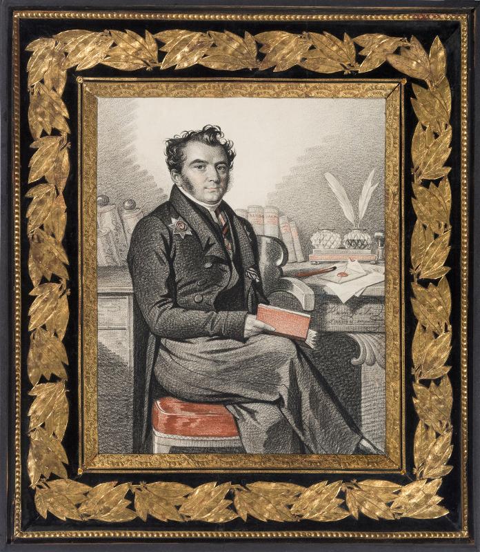 """К.К. Гампельн """"Портрет Д.Г. Бибикова"""" Вторая половина 1820-х"""