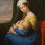 """Неизвестный художник """"Портрет княгини М.Ф. Барятинской с сыном"""" 1820-е"""