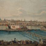 """К.К. Гампельн """"Закладка Москворецкого моста"""" 1830"""