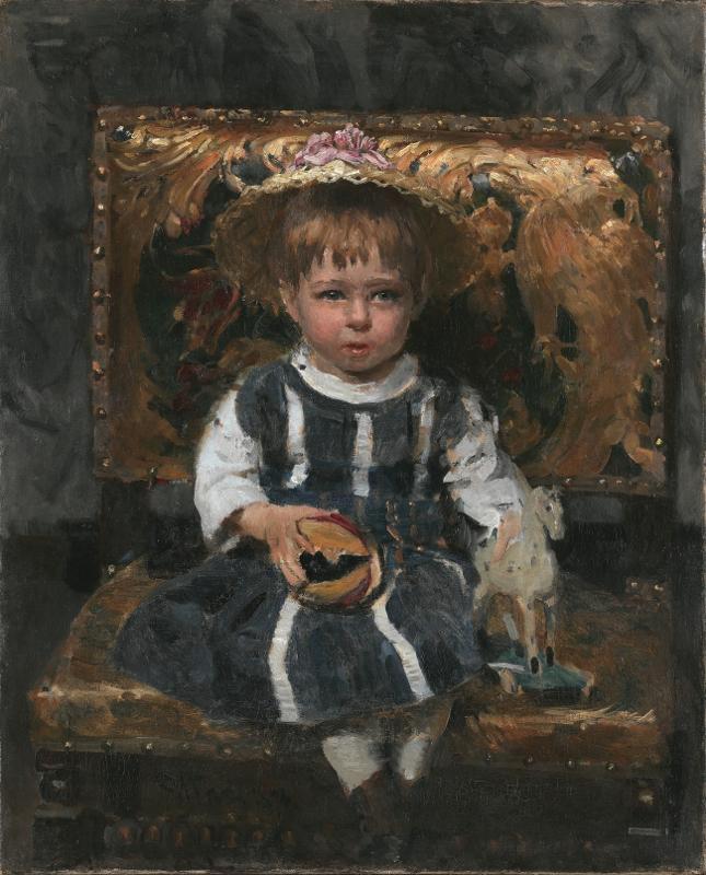 """Илья Репин """"Портрет В.И. Репиной в детстве"""" 1874"""