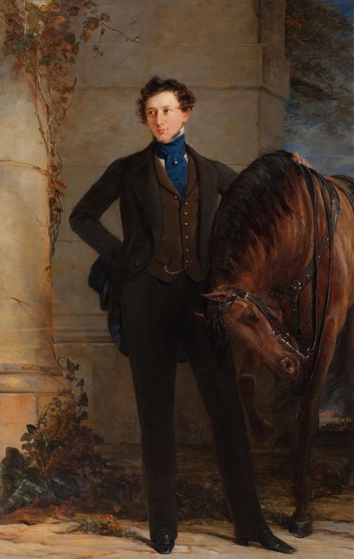 """Кристина Робертсон """"Портрет графа В.П. Давыдова"""" 1840"""