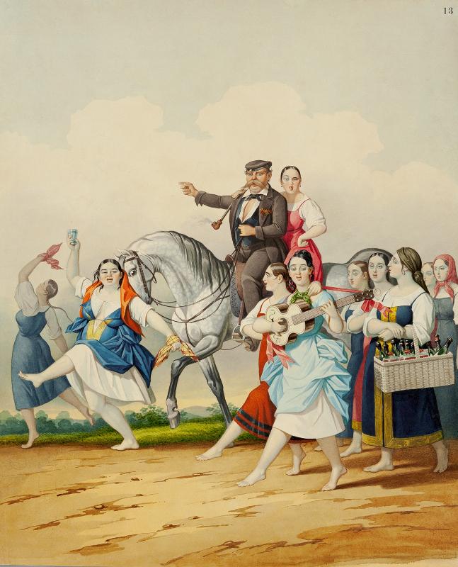 """К.К. Гампельн """"Гарем помещика"""" Около 1850"""