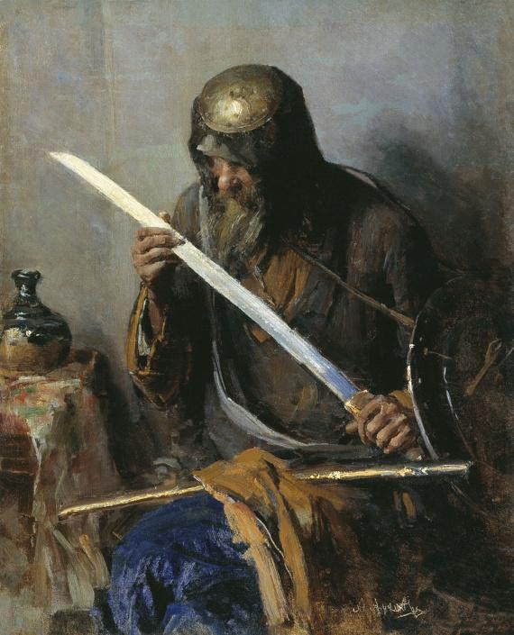 Абрам Архипов «Ратник» Таганрогская картинная галерея