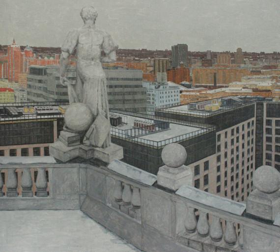 """Выставка """"В городе М.... Зима"""". Арт-центр Exposed."""